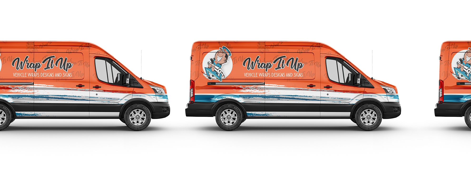 Finished wrapped van