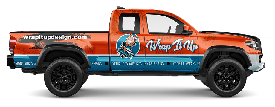 full wrapped vinyl truck design