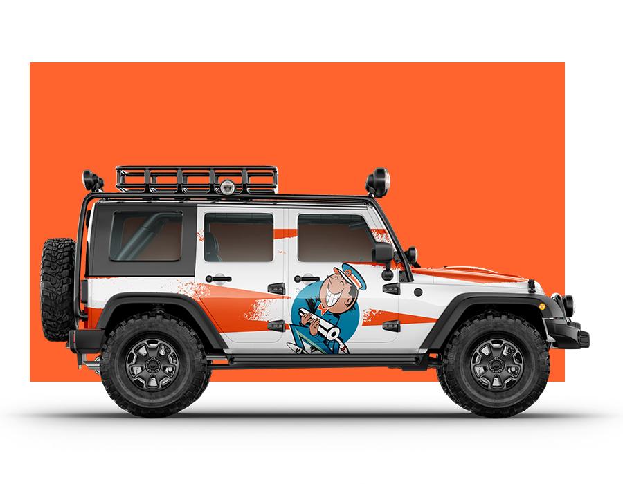 vinyl wrapped jeep wrangler