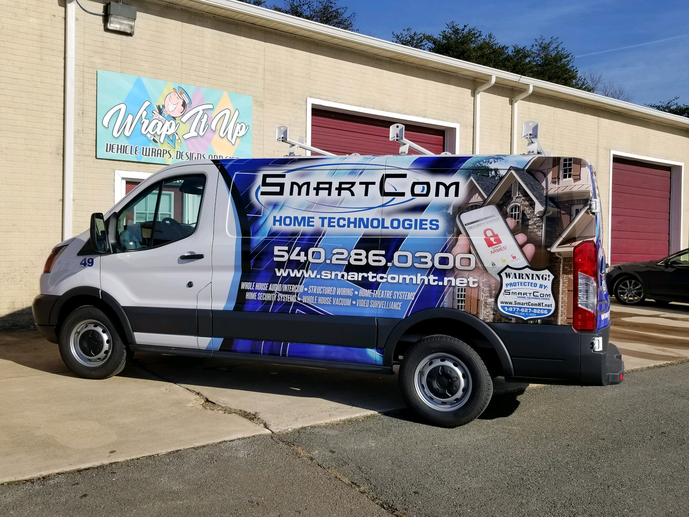 technology company wrapped van