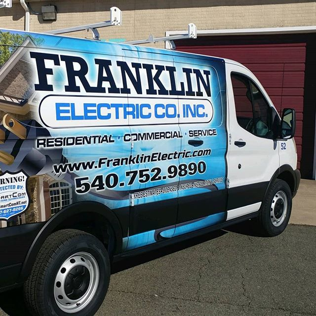 electric co. vinyl wrapped van side