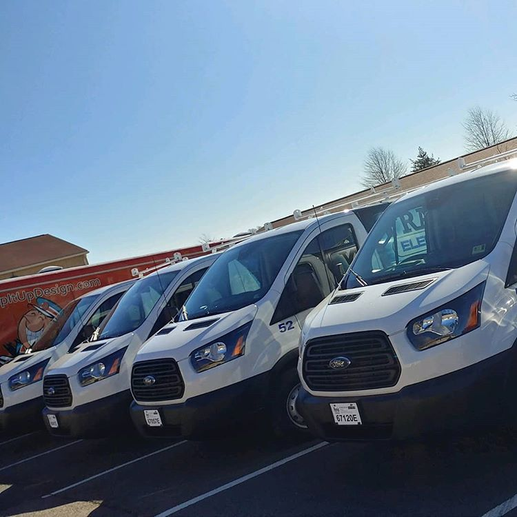 vinyl wrapped vehicle fleet