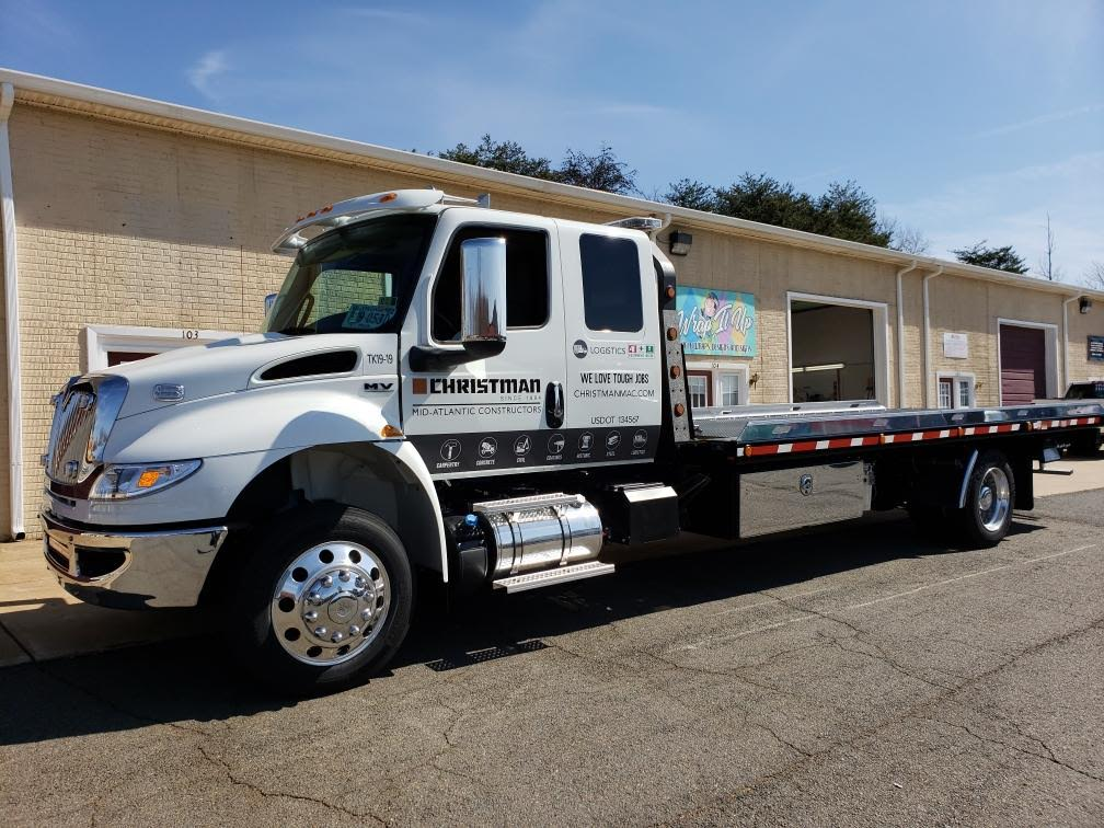 Christman Construction Vinyl Trailer Wrap