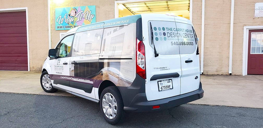 Carpet house design center vinyl wrapped van 3