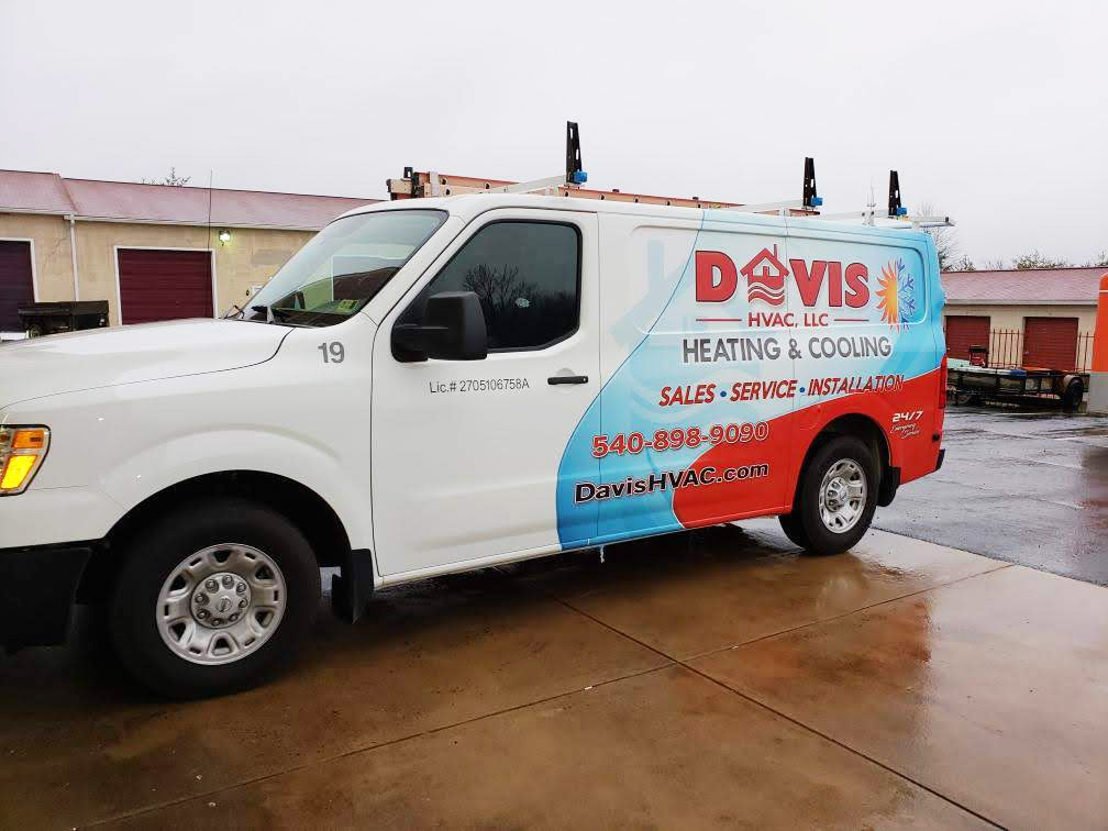 Davis HVAC Vinyl Wrapped Van Side View